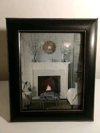 Black Stitched Leather Picture Frame 51 km