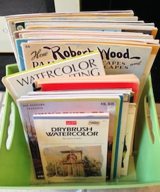 Art watercolor how to paint books  whole bin