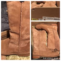 brown leather knee-high boots 1022 mi