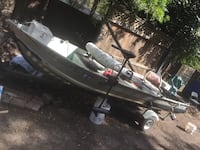 14' sears gamefisher aluminum boat and trailer