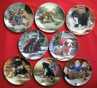 Set of 8 Puppy plates in boxes Thamesford, N0M 2M0