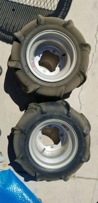two gray car wheel with tires El Mirage, 85335