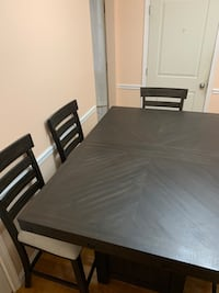 Espresso Height Dining Table Set