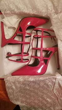 Red stiletto shoes size 7.5