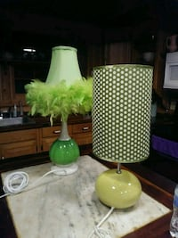 green and white table lamp Summerdale, 36580