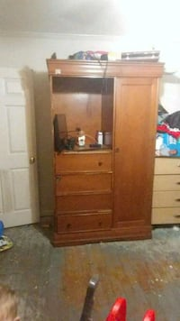 brown wooden cabinet with mirror Gonzales, 70737