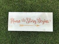 Home is where your Story Begins Barnwood Sign Airdrie, T4A 0H2