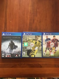 PS4 games...all 3 for $25 Milford, 03055