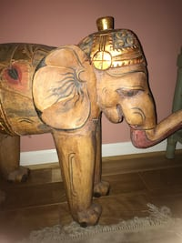 Decorative wooden elephant from India handmade Washington, 20011