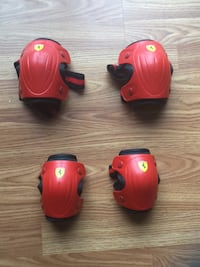 Red rollerblading elbow & knee guards for kids Chesterfield, 63017