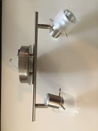 stainless steel and white ceiling lamp Laval, H7N 5M6