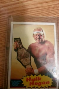 HULK HOGAN CARD EXC. CONDITION. 1985 card #1.