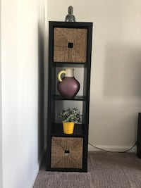 Ikea shelf with storage basket and decorative items Owings Mills, 21117
