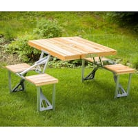 Foldable bamboo table. Used once. Comes with carrying case Whitehouse Station, 08889
