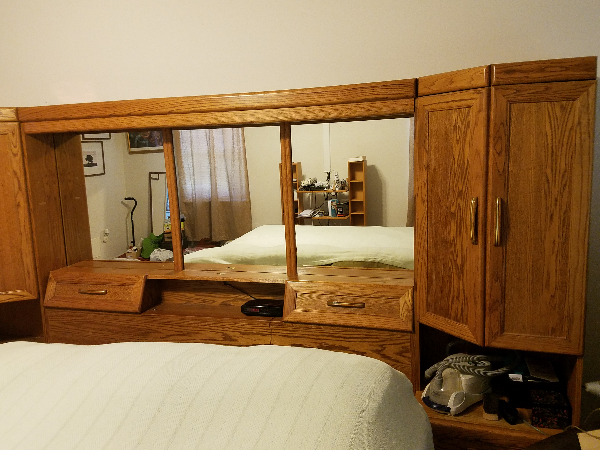 Bedroom Wall Unit.  I am ready to sell. Remodeling and painting no more room..Make offers. Good serious offers.. Slidell