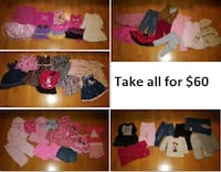 18 Mths Baby Girl Clothing Lot 1 (Take 50 Pieces for $60) Mississauga