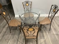 Glass table with 4 chairs  Boca Raton, 33432