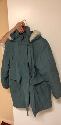Authentic outerwear jacket with hood  New York, 11362