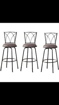 Delta Adjustable Metal Barstools, 3-Piece Set, Black Brand New In Box.  $50 Contact for more info thanks! Gates Center, 14624