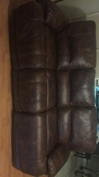 Brown leather electric couch and loveseat Corpus Christi, 78411