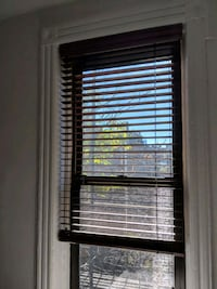 Wooden blinds. 32.5 inches wide.  New York, 10011
