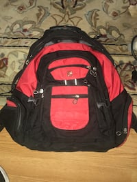 Swiss army backpack black and red