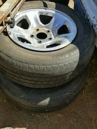 Tires and rim off F-150