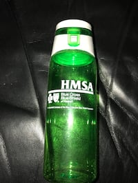 FREE!  FREE!  HMSA Lime Green and White Beverage Bottle
