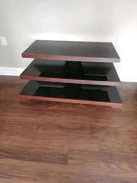 black and brown wooden TV stand Maple Ridge, V2X 0P6