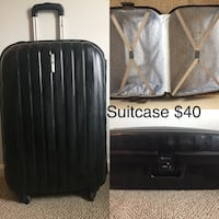 Hard shell suitcase with combo lock