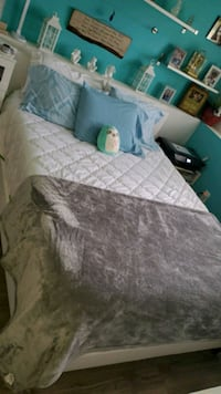 Bed frame cloth and memory foam mattress queen size  Smithsburg, 21783
