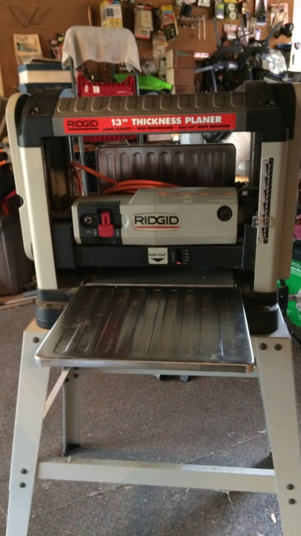 Used Ridgid 13 Thickness Planer With Spare Cuttee Bla For Sale In