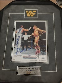 Randy 'Macho Man' Savage & Ultimate Warrior Double Signed 1991 WWF Frame Toronto