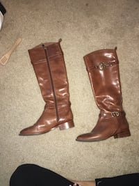 TORY BURCH brown Leather boots size 7