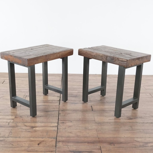 Pair Of Restoration Hardware End Tables 1022221
