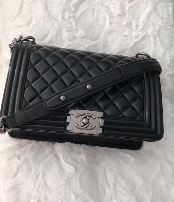 67e74028da3e Used quilted black Chanel leather cross-body bag for sale in Shepperton -  letgo
