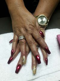 red and brown manicures Cleveland, 37311