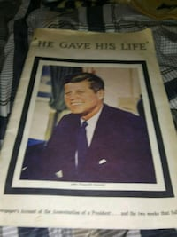 The story of John f Kennedy murder from 1963 it is in good shape
