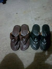 One of brown and one black leather shoes Ottawa