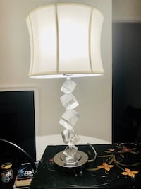 white and gray table lamp Midlothian, 23114