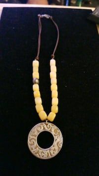 Sterling silver  and yellow jade necklace  Hyattsville, 20784