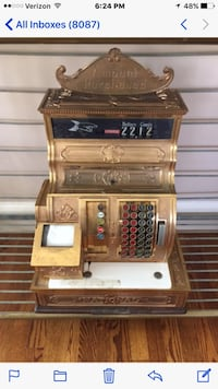 Vintage brass national cash register Gaithersburg, 20878