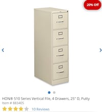 4 Drawer Vertical file cabinet brand new lockable Oakland, 94619