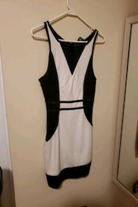 Black and white bebe dress size small Mississauga, L5B