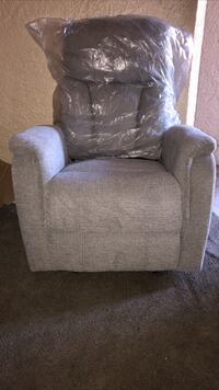 Brady Charcoal Glider Recliner Brand New