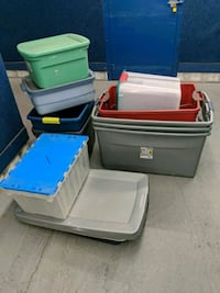 assorted-color plastic storage boxes Tucson, 85716