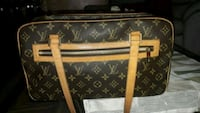 Tote bag in pelle Louis Vuitton marrone e nera