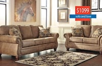 Gorgeous Sofa & Loveseat On Sale For Black Friday Finance Available New York, 11435