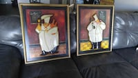 two brass frame of artwork of chefs Louisville, 40202