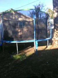 blue and black trampoline with enclosure San Jose, 95116
